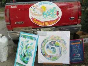 Fort Qu'Appelle farmer's Market...selling art from the back of our truck!!!