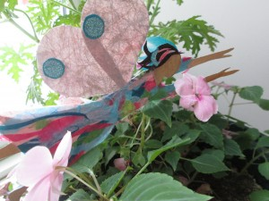 Fairy in the Impatiens. SOLD