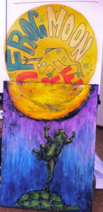 Maggie King put Jessie's Frog Moon cafe together with Kate's painting and voila!