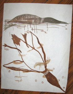 "Study of loon diving done when I was 17...note similarity with ""Deep Diver"""