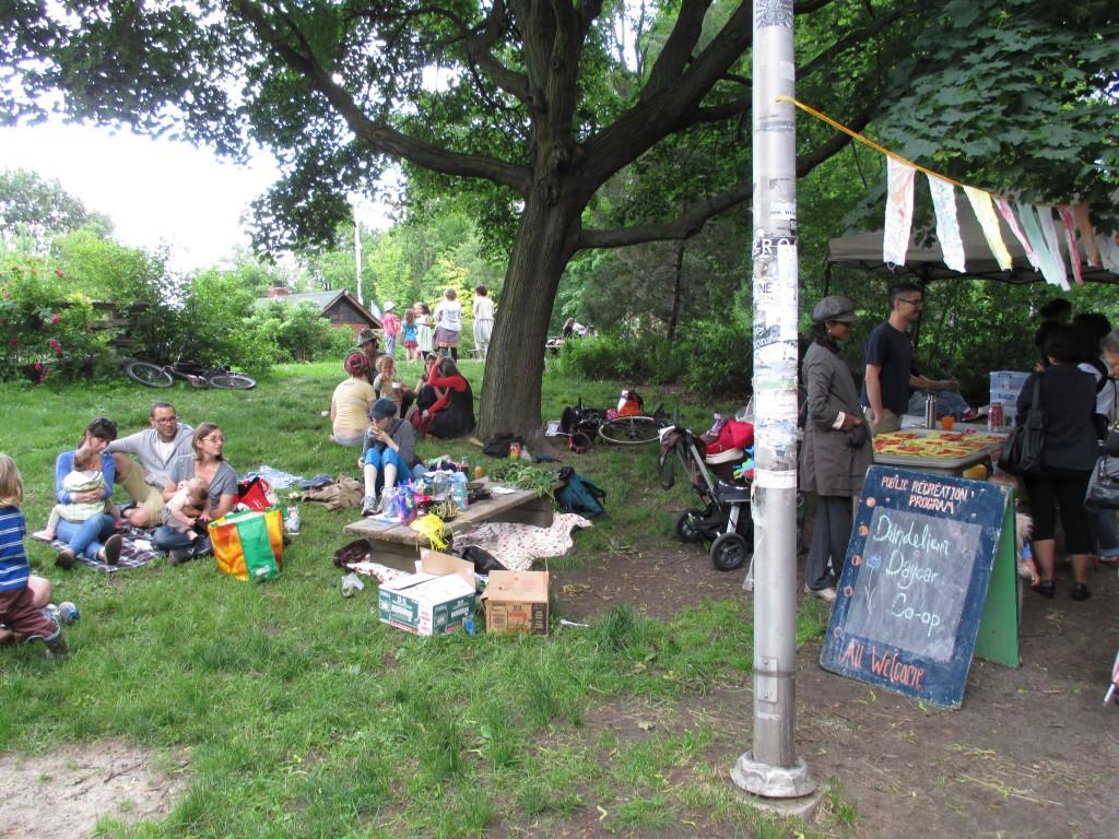 a children's area at the farmer's Market