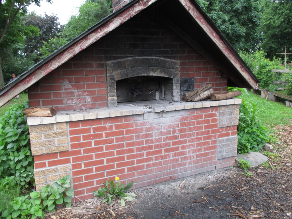 The outdoor oven the Friends of the Park use to bake bread