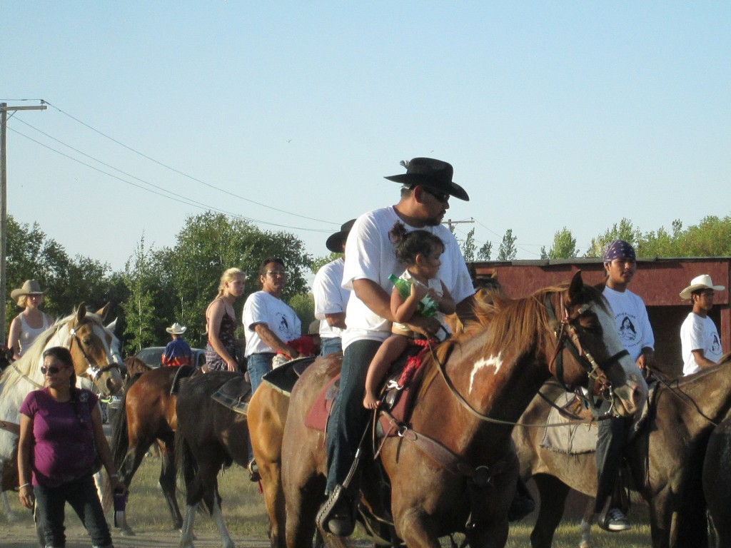 some of the many riders and horses at Treaty Four