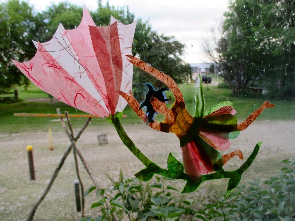 """""""Umbrella fairy"""". Rice Paper. SOLD."""