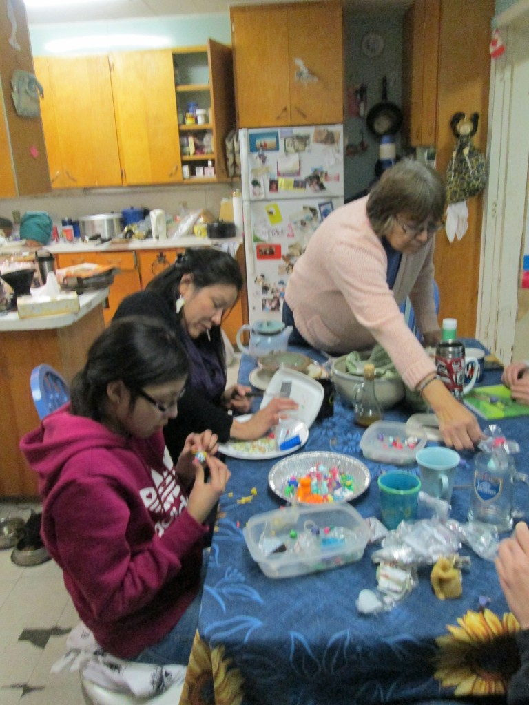 Edith, Gail and Janaye (3 generations) creating at the kitchen table