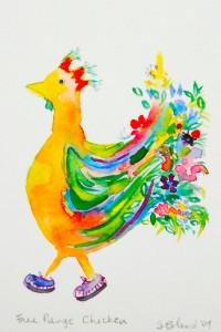Free Range Chicken - watercolour