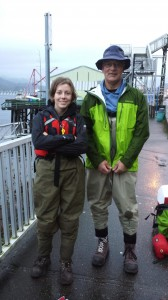 Laurel and Shane ready to go in their waders