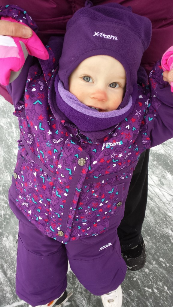 MaryLou's first skate
