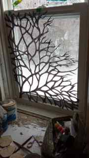 Trying the branches in the window
