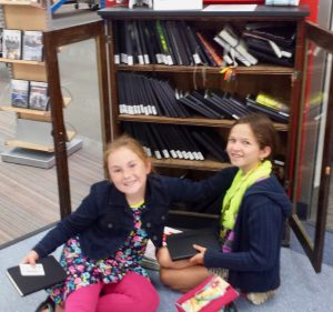 picking out our sketchbooks at Regina Public Library